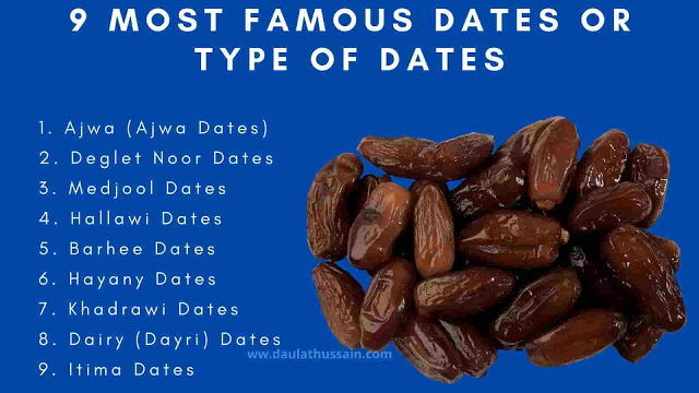 9 Most famous Dates Or Type Of Dates