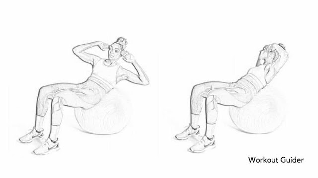 Stability ball cross exercise