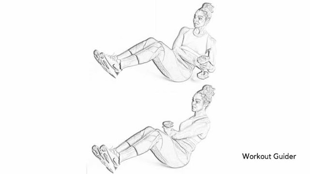 Weighted V-sit twist core workout
