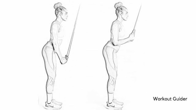 Resistance band triceps press down