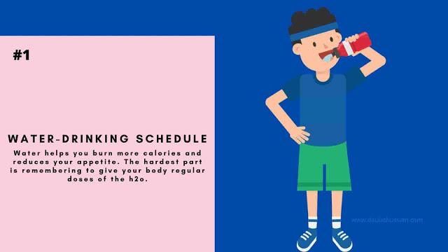 Water-drinking schedule