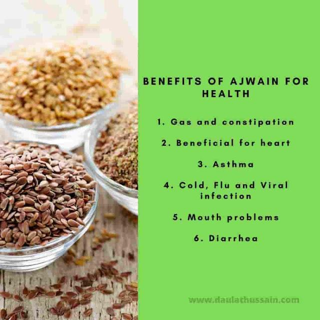 Health Benefits Of Ajwain