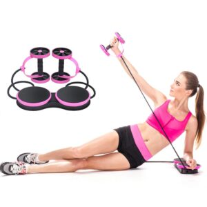 AB Wheels Roller Stretch Elastic Abdominal Resistance Pull Rope