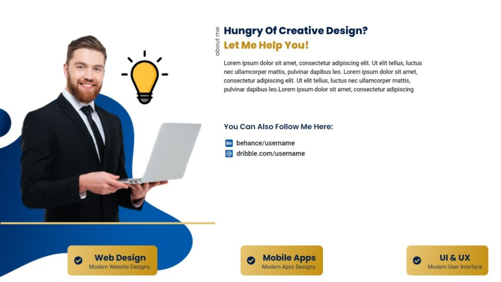 About Us Section Of portfolio website template download for free wordpress template
