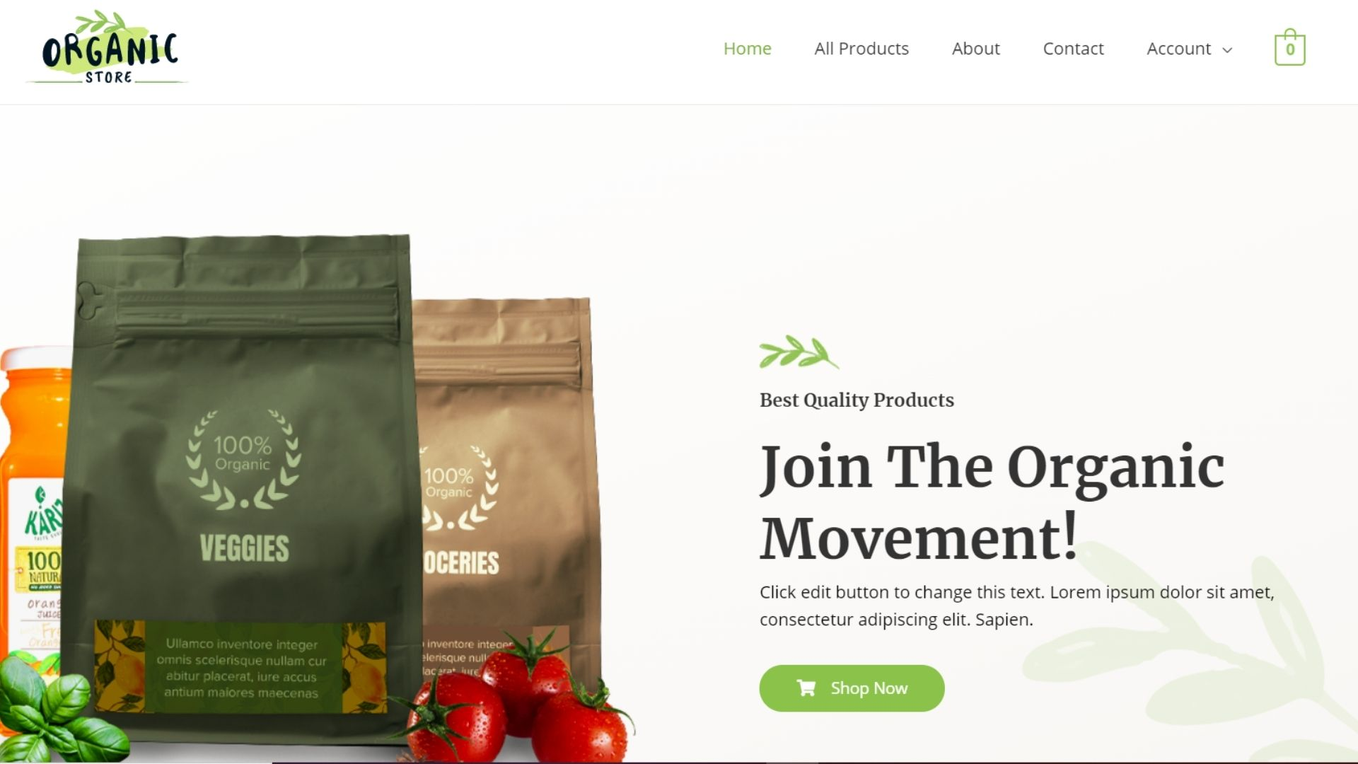 Read more about the article Organic Store Website Template By Daulat Hussain